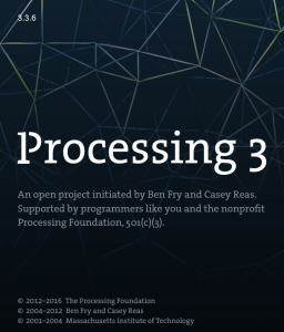 Processing 3 open project initiated by Ben Fry and Casey Reas.